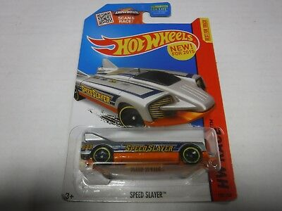 HW HOT WHEELS 2015 HW RACE #180//250 SPEED SLAYER HOTWHEELS SILVER VHTF
