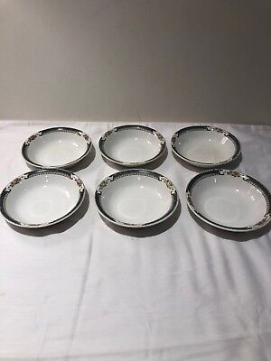 6 Vintage K.T & K China Knowles Taylor Berry Bowls