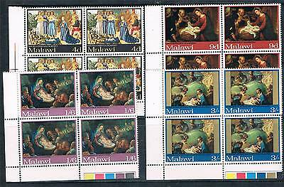 Malawi 1968 Christmas CORNER BLOCKS SG 305/8 MNH
