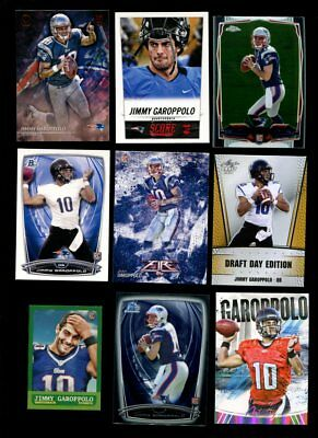 2014 Mixed Brand Jimmy Garoppolo Rc Football Lot Of 14 Different Mint *137366