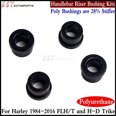 Black Polyurethane Handlebar Riser Bushings for Harley Davidson Bushings 84-16