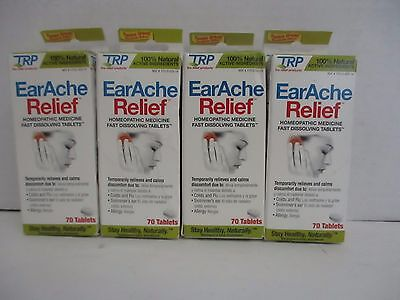 4 Trp Earache Relief Homeopathic Fast Dissolving Tablets 70 Tabs Ea Al 1113