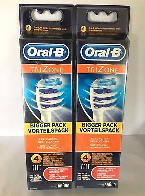 8 x Braun Oral B TRIZONE Electric Replacement Tooth Brush Heads EXPRESS DELIVERY