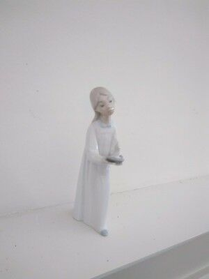 """Lladro Girl With Candle Figurine, 8 1/4"""" Tall, Pre-Owned"""