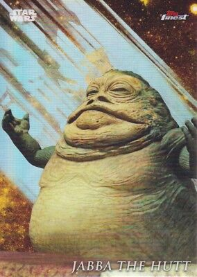 2018 Star Wars Topps Finest Trading Card #114 Jabba the Hutt SP