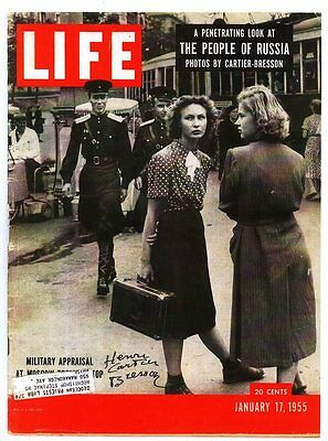 MILITARY APRAISAL AT MOSCOW. CARTIER-BRESSON's Cover in LIFE January 17, 1955.