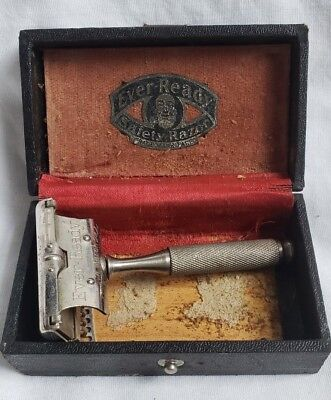 Vintage Antique Ever-Ready Safety Razor In Box American Safety Razor Co Inc