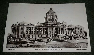 1908 Antique Postcard, Davidson Bros, Little Rock AK, series 1902 Franklin stamp