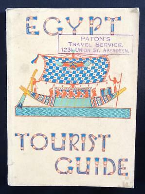 OLD VINTAGE 1938 EGYPT TOURIST GUIDE BOOK - PHOTOS, MAPS, INFORMATION - 280p
