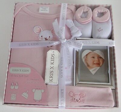 Baby Girl Gift Set Hamper/clothes /photo Frame/christmas /baby Shower/ Mum To Be