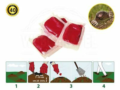 Mole Bait Killer Poison Sachets  ( Super Effective ) - 40 Fresh Baits