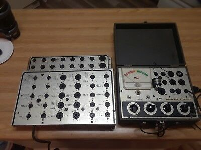 B&K 600 Dyna-Quick & Model 510 Vacuum Tube Testers With Adapter