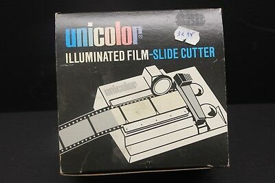 Unicolor Illuminated 35mm film or slide film cutter new old stock ac 120 volt