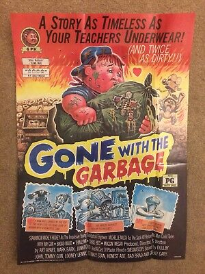 1986 Garbage Pail Kids Poster~GONE WITH THE GARBAGE #15 ~Vintage~Topps~ New