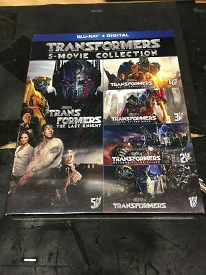 Blu-Ray: Transformers 5-Movie Collection ( Blu-Ray + Digital ) Factory Saled