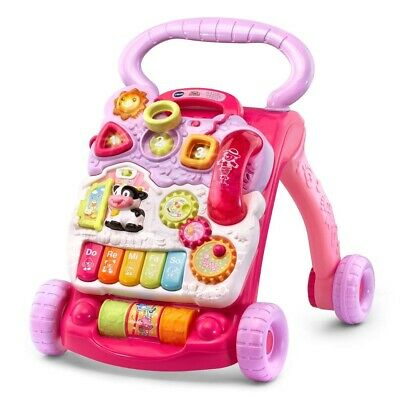 New VTech baby Sit-to-Stand Learning Walker for 9 to 36 months, Pink, battery...