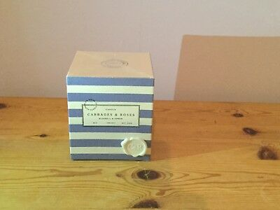 Cabbages & Roses Bluebell & Amber Scented Candle New In Box 240g 45hrs Burning