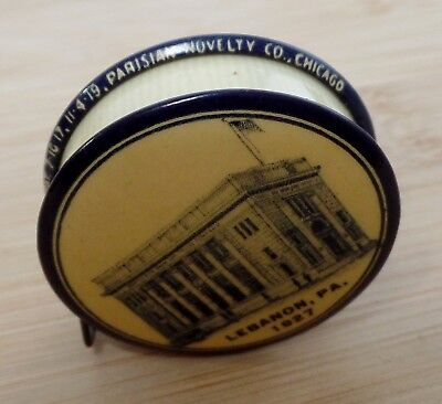 North Side Bank & Trust Co.Lebanon,Pa.,Celluloid Tape Measure,1927