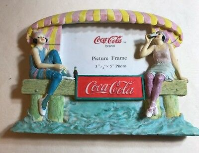 Coca Cola Bathing Beauties Picture Frame Summer Time Beach Life Drink Coke
