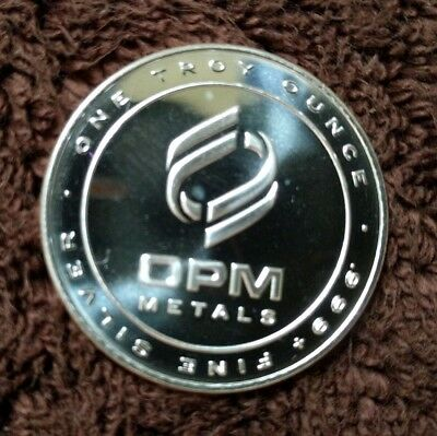 1 Troy oz. OPM .999 Fine Silver Rounds (lot of 5) Ohio Precious Metals