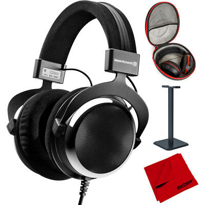 BeyerDynamic DT 880 Premium Semi Open Chrome Headphones 600 ohm + Case Bundle