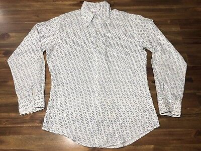 VTG Funky & Groovy Threads Kennington Men's L/S Floral Shirt Size M