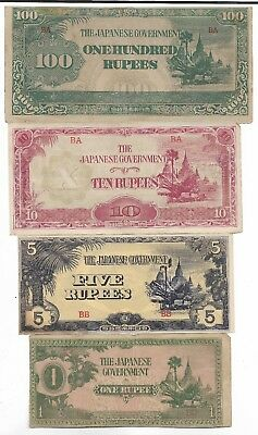 Rare Old Japanese WWII 1943 Japan War Vintage Dollar Note Unique Collection Lot