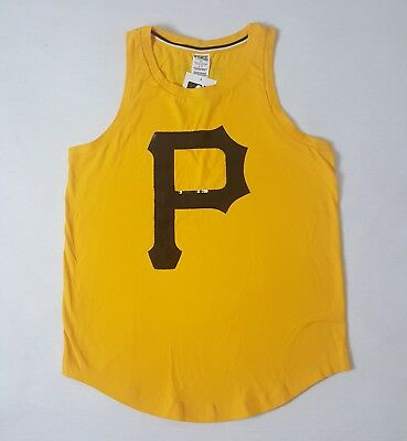 247eb11d2 Women s Pittsburgh Pirates Pink By Victoria s Secret Gold Bling Neck Henley  Tank