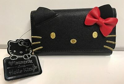 Loungefly Hello Kitty Black Wallet With Bow , New