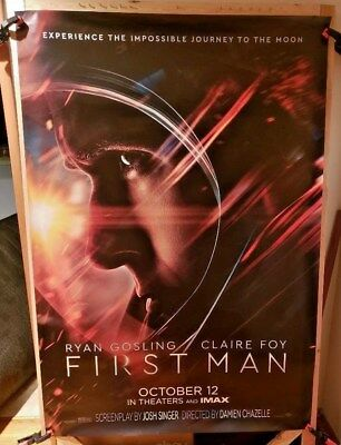 First Man (2018) IMAX 4 x 6 Bus Shelter Poster (Helmet) Armstrong Apollo 11