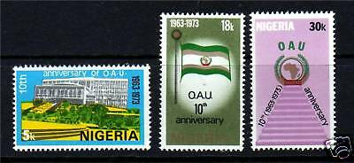 Nigeria 1973 10th Anniv.of O.A.U. SG311/3 MNH