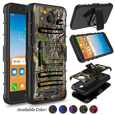 For Alcatel Tetra 6753B/ 5041C Shockproof Holster Clip Case Cover With Kickstand
