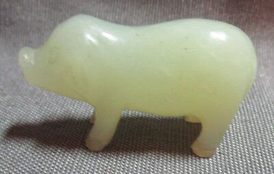 Carved Stone Miniature Pig