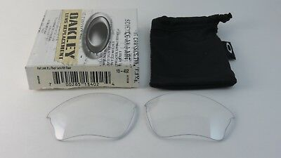 38ca636acd Oakley Half Jacket 1.0 Clear XLJ Replacement Lenses+Box 13-402 NEW RARE