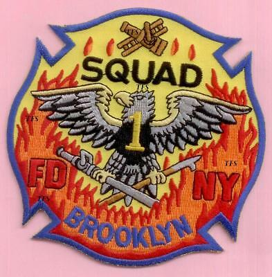 New York City Fire Dept Squad 1 Patch N/S