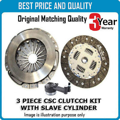 3 Part Clutch Kit with CSC Slave Cylinder 228mm 9827-18 Complete 3 Part Set