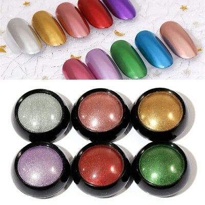 Mirror Glitter Powder Holographic Shiny Chrome Pigment Powder Nail Art Design