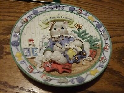 Enesco Calico Kittens - Friendship is Heavenly - Limited Edition Plate 1997