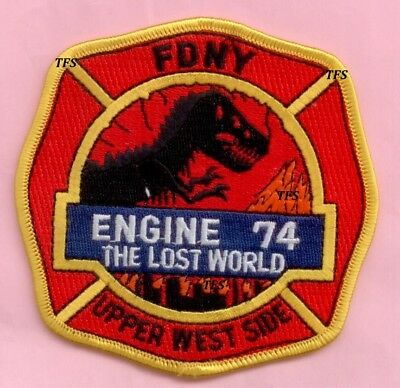 New York City Fire Dept Engine 74 Patch - Lost World