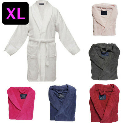 NEW HOTEL DELUXE 100% Egyptian Cotton Terry Towelling Bath Robe 500gsm Unisex XL