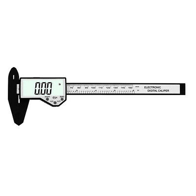 "Electronic Digital Caliper Inch/Metric/Fractions Conversion 6"" Carbon Fiber"