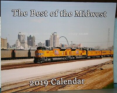 THE BEST OF THE MIDWEST Railroad Trains Calendar 2019 with UP NS Heritage Units