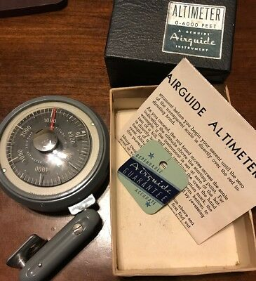 Airguide Vintage Altimeter 608, 0-15,000 Feet With Box