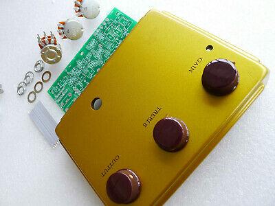 1:1 Gold Overdrive Effects Pedal Project Box Case DIY  With PCB/Pots/Wire Kits