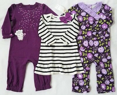New Gymboree Clothes PURPLE LOT~ONE PIECE OUTFITS~SWEATER DRESS 12-18 months~NWT