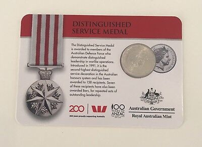 2017 Legends Of The Anzacs Medals Of Honour 20 Cent- Distinguished Service Medal