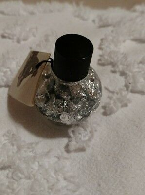 Vintage Silver Flakes in a Bottle-Made in Brazil w/Certificate​ of Authenticity