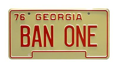 Smokey and the Bandit | Burt Reynolds | BAN ONE | Screen Accurate License Plate