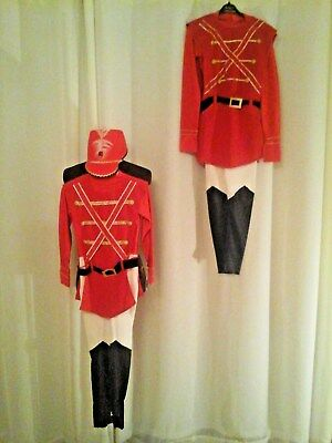 2 Christmas Soldier Nutcraker type Costumes for Stage Theatre Panto Fancy Dress