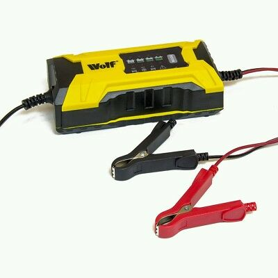 Wolf Smart Intelligent Automatic 2A 6v & 12v Car Battery Charger Booster